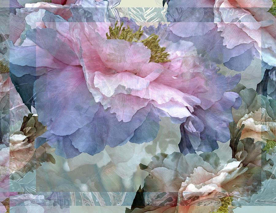 Floral Potpourri with Peonies 24 by Lynda Lehmann