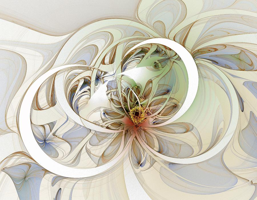 Digital Art Digital Art - Floral Swirls by Amanda Moore
