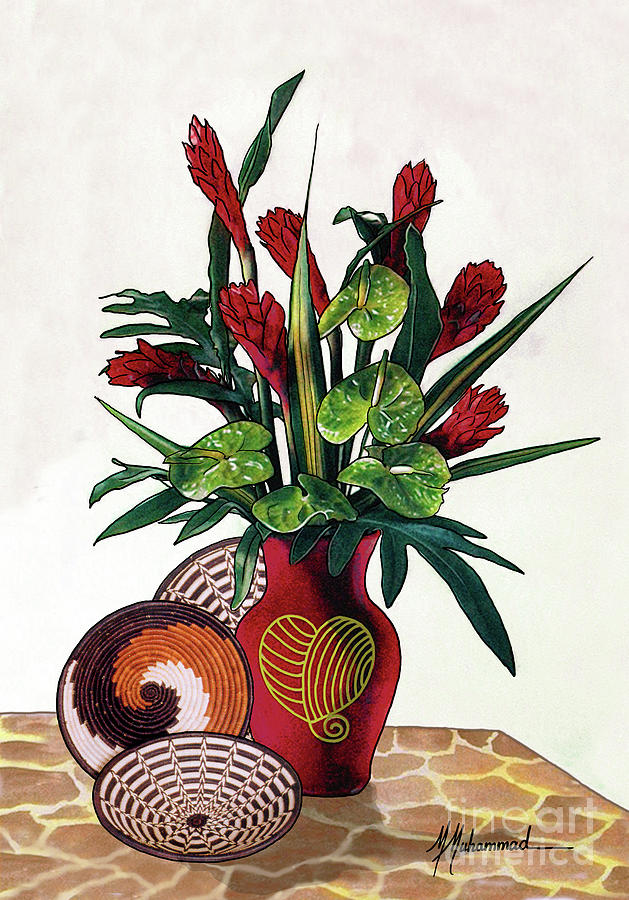 Floral Painting - Floral Tropical by Marcella Muhammad