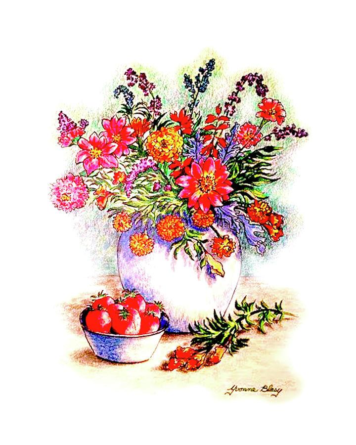 Floral Vignette by Yvonne Blasy