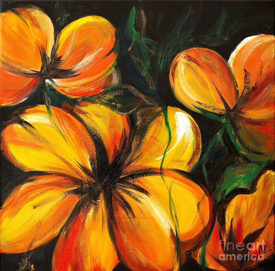 Flowers Painting - Floral Yellow by Yasmin  Modi