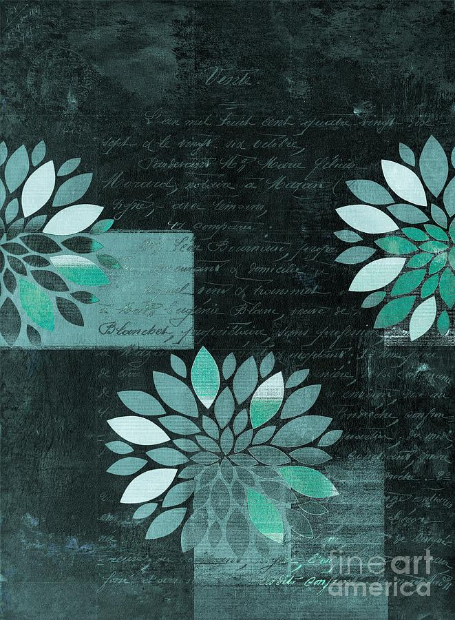 Dahlia Digital Art - Floralis - 8181cd by Variance Collections
