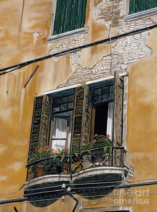 Italy Painting - Florence Balcony by Jiji Lee