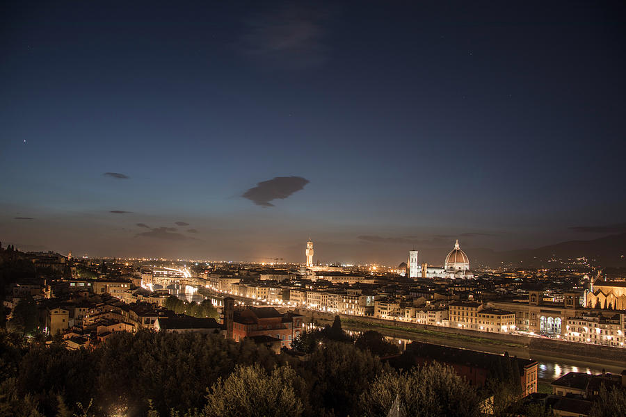 Florence Photograph - Florence Blue Hour  by John McGraw