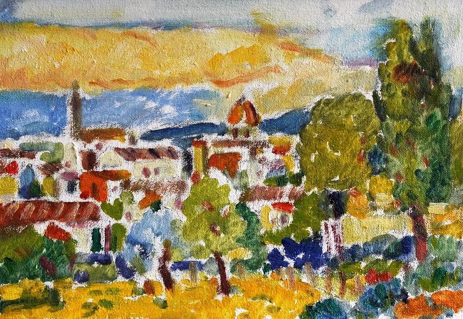 Florence Italy Painting - Florence From A Hill by Owen Hunt