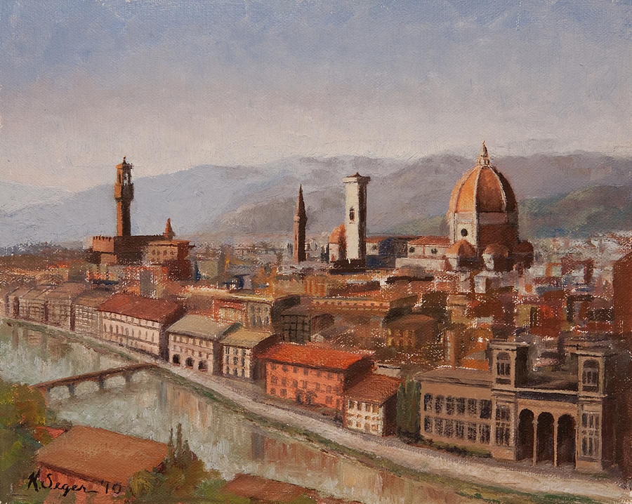 Italy Painting - Florence From Piazza Michelangelo by Katherine Seger