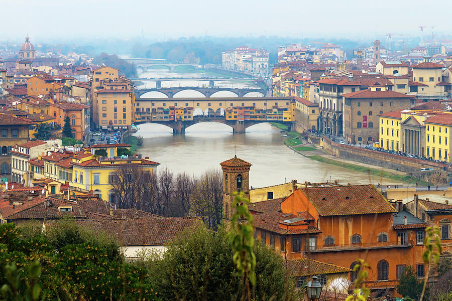 Horizontal Photograph - Florence Italy by Photography By Spintheday