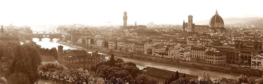 Florence Italy Photograph - Florence Italy Wide by Michael Ramsey