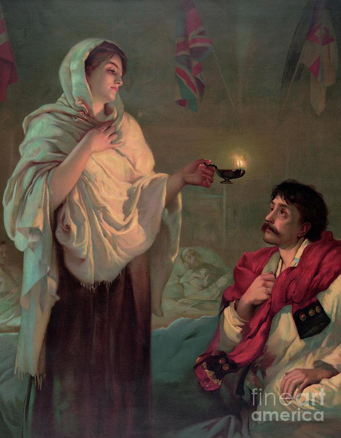 Florence Nightingale Painting - Florence Nightingale by English School