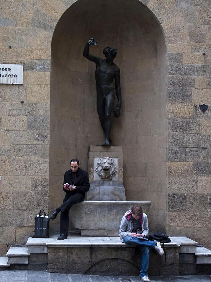 Florence Photograph - Florence Street Scene by Obi Martinez