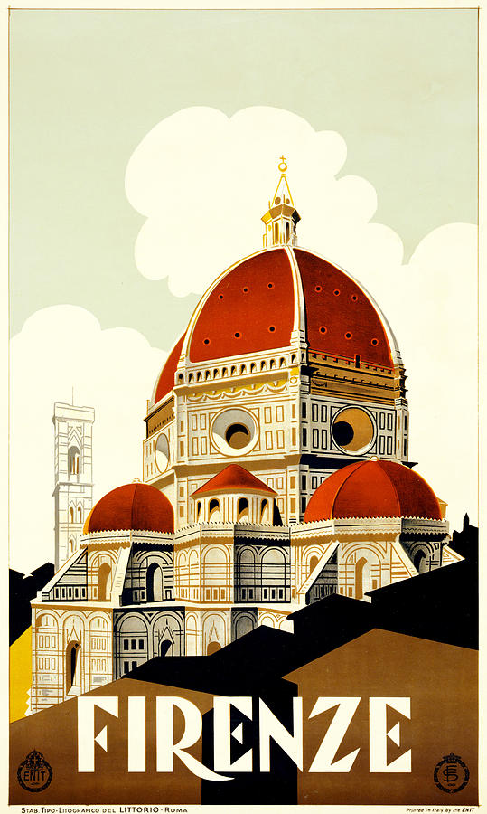 Florence Painting - Florence Travel Poster by Italian School