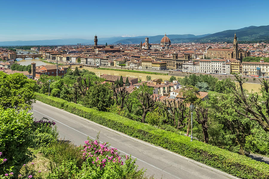 Italian Florence: Florence View From Piazzale Michelangelo Photograph By