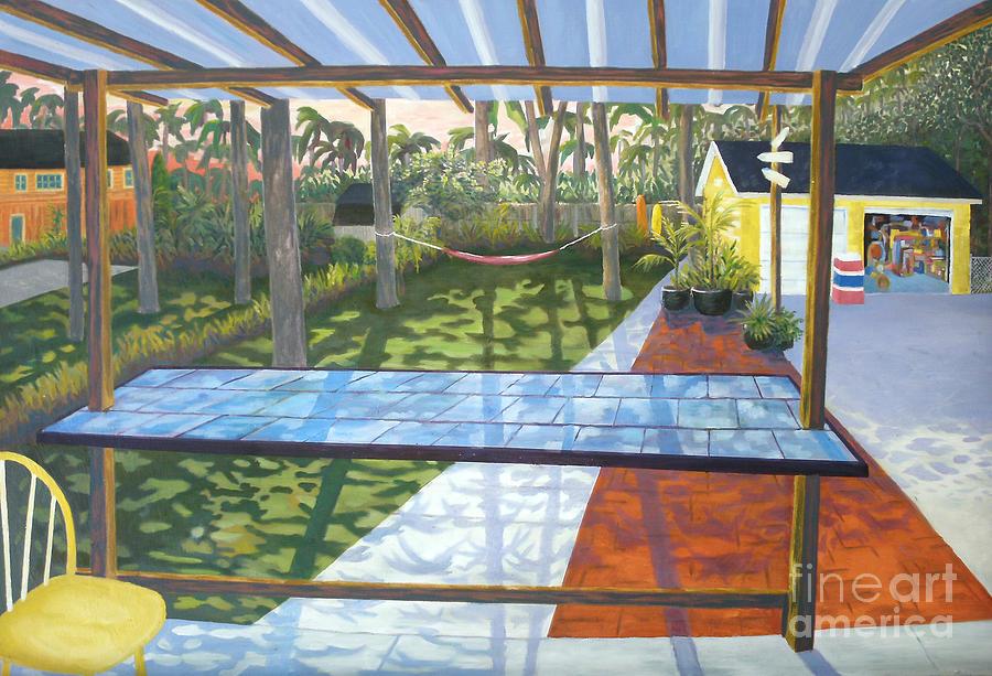 Landscape Painting - Florida Backyard by Blaine Filthaut