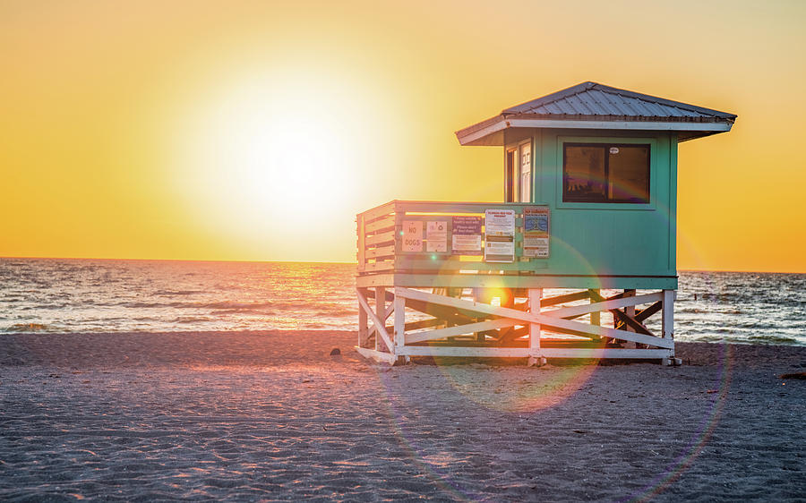 Flare Photograph - Florida Beach Life by Don Miller