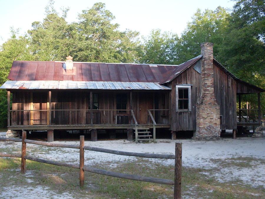 Florida cracker house at silver river photograph by warren for Florida cracker house plans wrap around porch