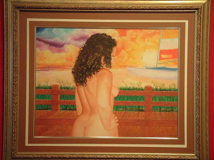Nude Painting - Florida Dreams by Benito Alonso