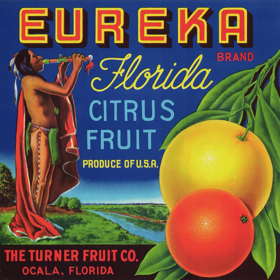 Fruit Photograph - Florida Eureka Citrus Fruit Crate Label by Daniel Hagerman