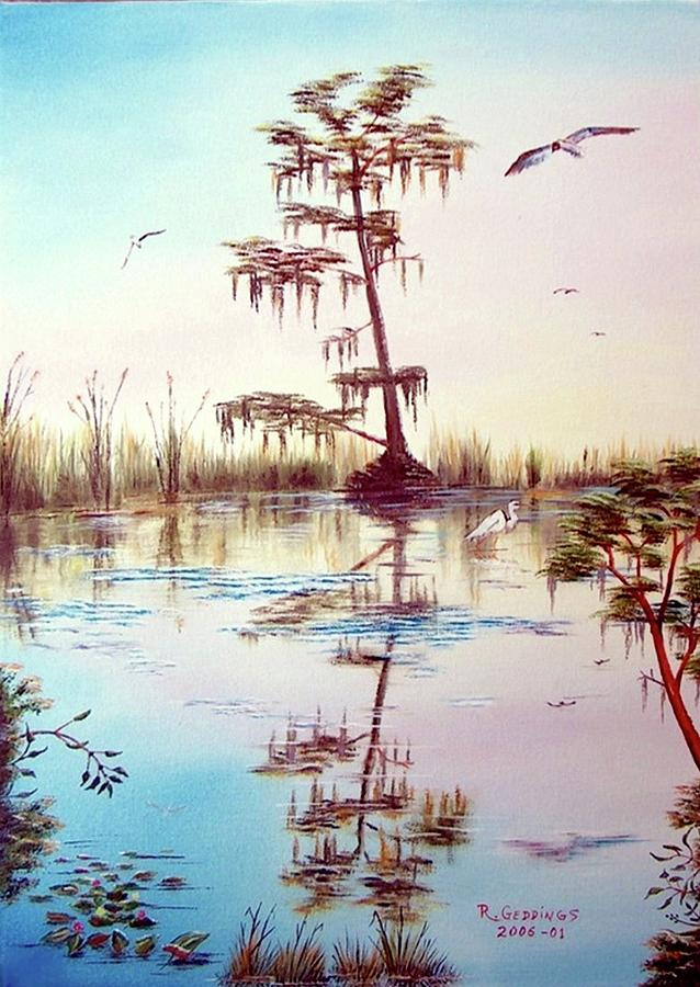 Glades Painting - Florida Everglades Study # 1 by Riley Geddings