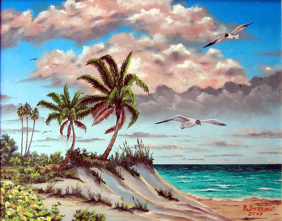 Art Work Painting - Florida Gulf Dune by Riley Geddings