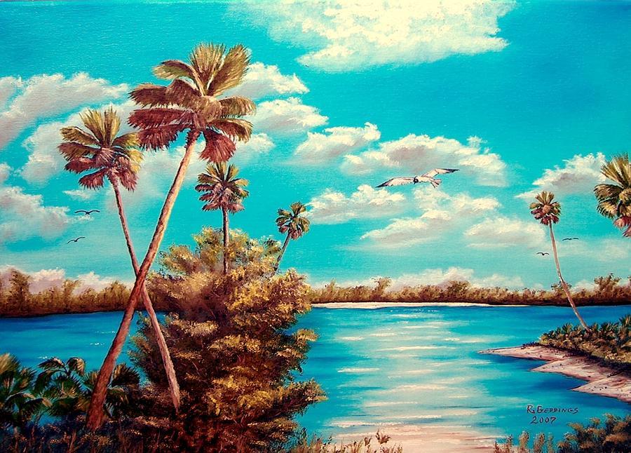 Art Work Painting - Florida Hideaway by Riley Geddings