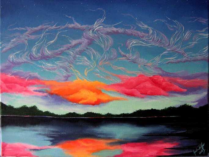 Florida Painting by Jesska Hoff