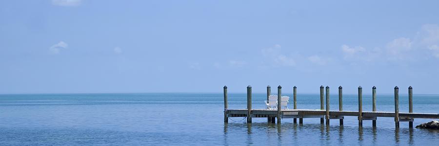 America Photograph - Florida Keys Quiet Place Panoramic View by Melanie Viola