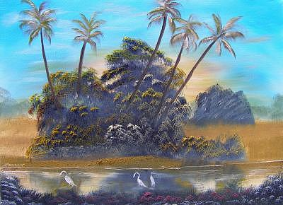 Florida Landscape Painting by Sheldon Morgan