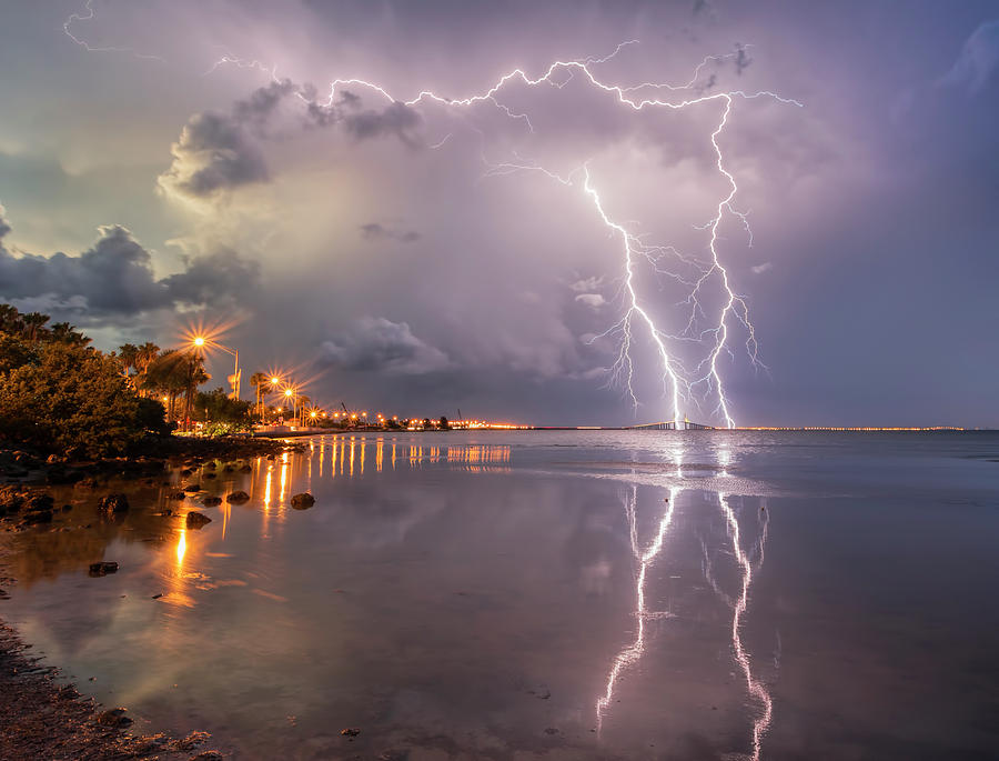Lightning Photograph - Florida Lightning by Justin Battles