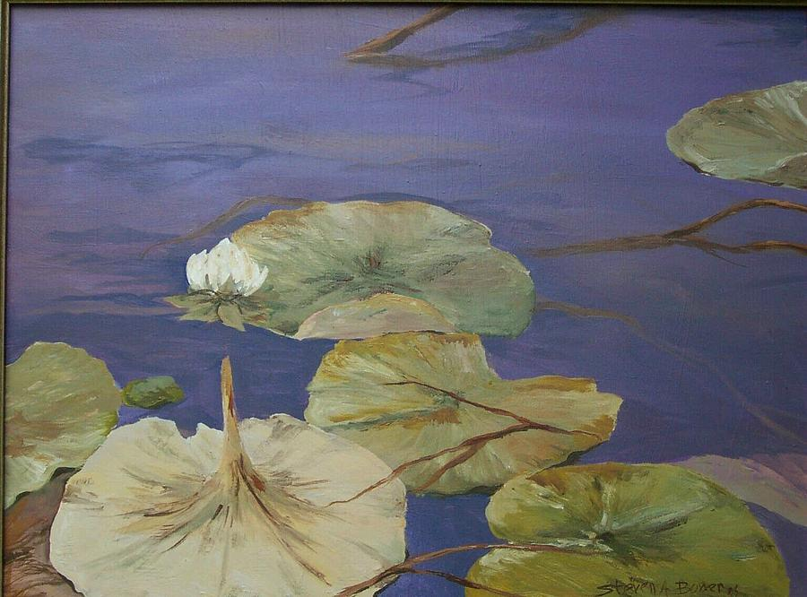 Landscape Painting - Florida Lilies by Steven Bower
