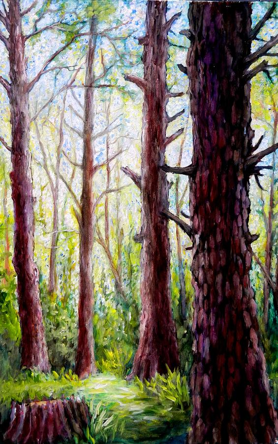 Tree Painting - Florida Pine Forest by Sebastian Pierre
