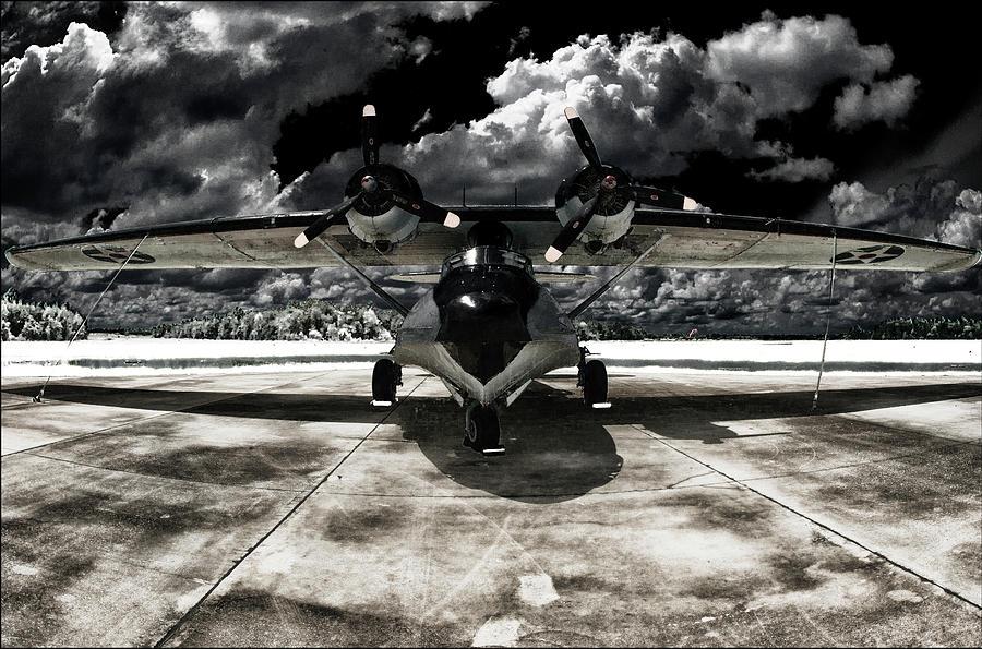 Florida Seaplane Pop Art Catalina No.93 Infrared Black Digital Art