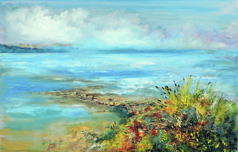 Oil Painting - Florida Shore by Philip Lodwick Wilkinson