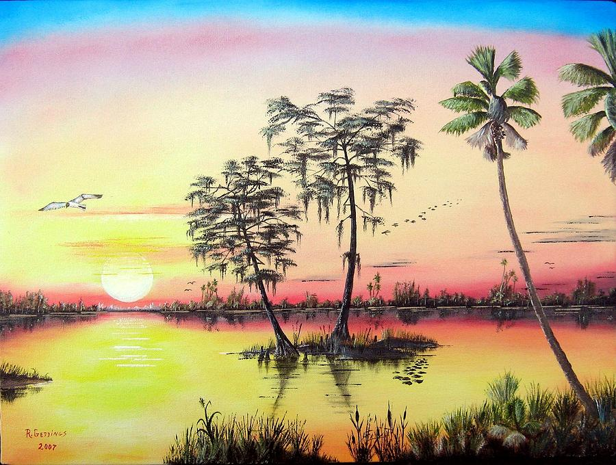 Pink Painting - Florida Splendor by Riley Geddings