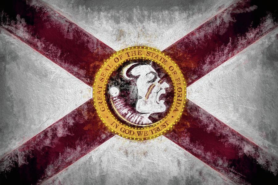Florida State Digital Art - Florida State Flag by JC Findley