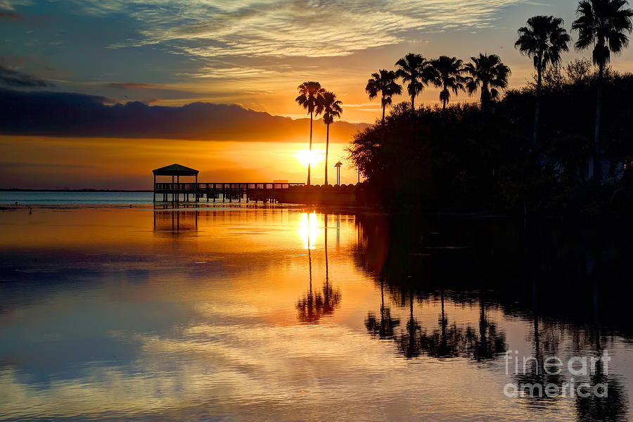 Water Photograph - Florida Sunrise by Rick Mann