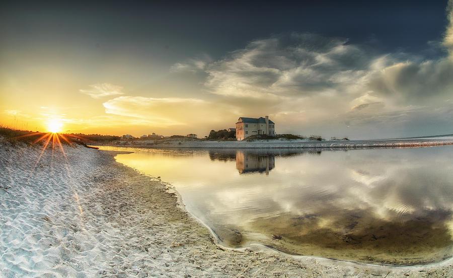 Beach Photograph - Florida Sunrise - Stillness by Cathy Neth
