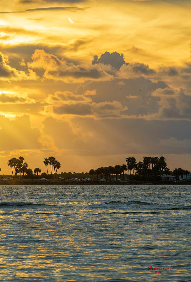 Water Photograph - Florida Sunset-3 by Marvin Spates