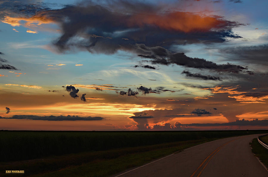 Delray Photograph - Florida Sunset Winding Road 2 by Ken Figurski