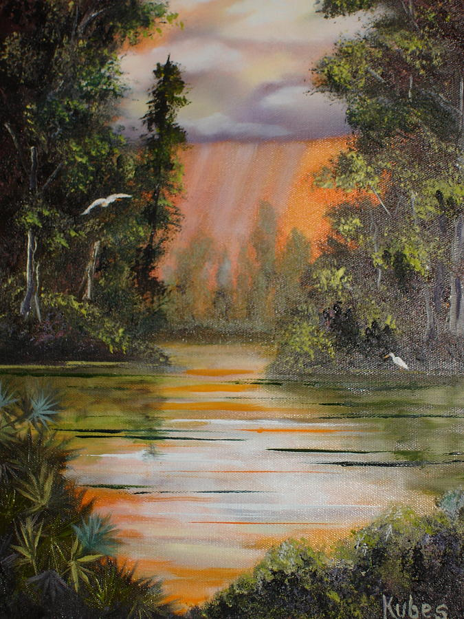 Landscape Painting - Florida Thunderstorm by Susan Kubes