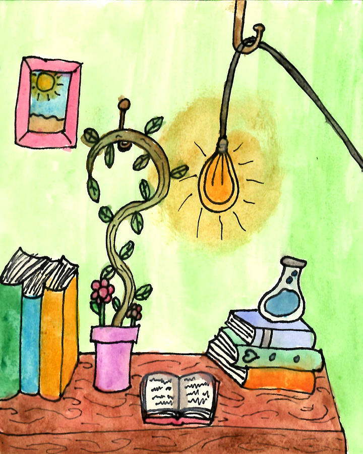 Art & Collectibles Painting - Florist Office by Sindy Original