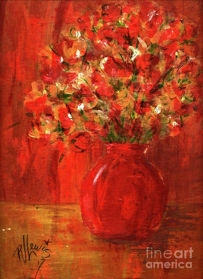 Red Painting - Florists Red by PJ Lewis