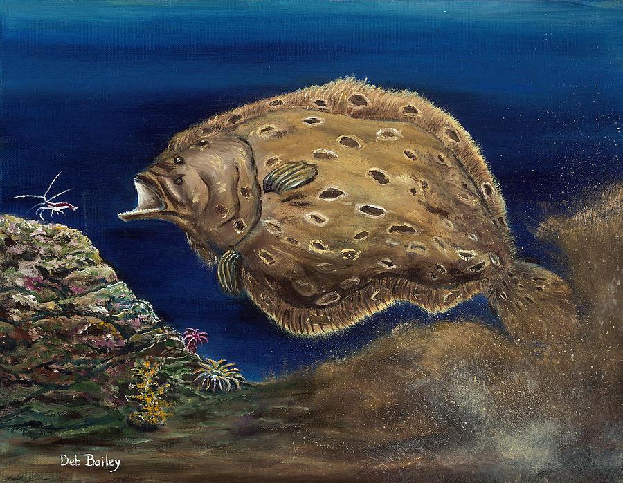 Flounder attack by Debra Bailey
