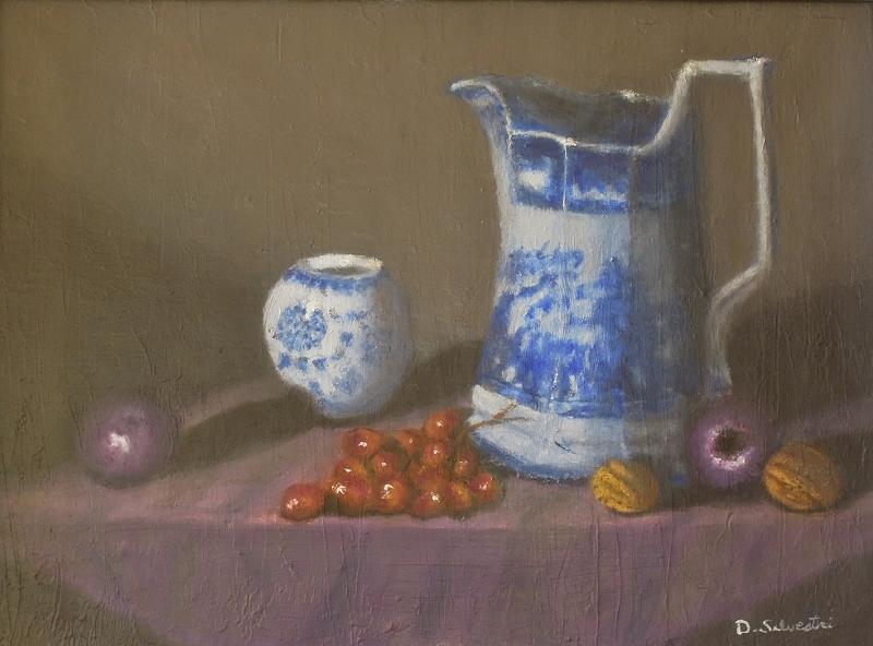 Still Life Painting - Flow Blue by Don Silvestri