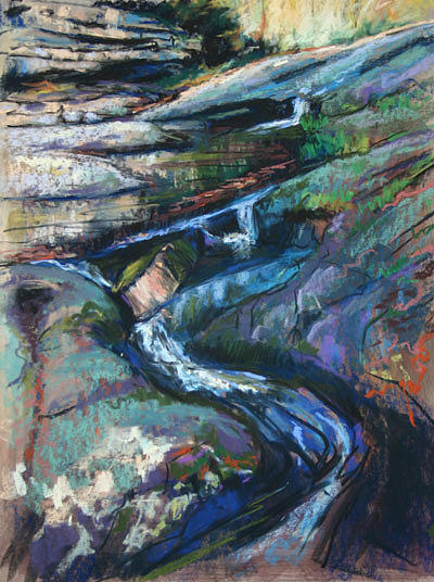 Pastel Painting - Flow by Elaine Hurst