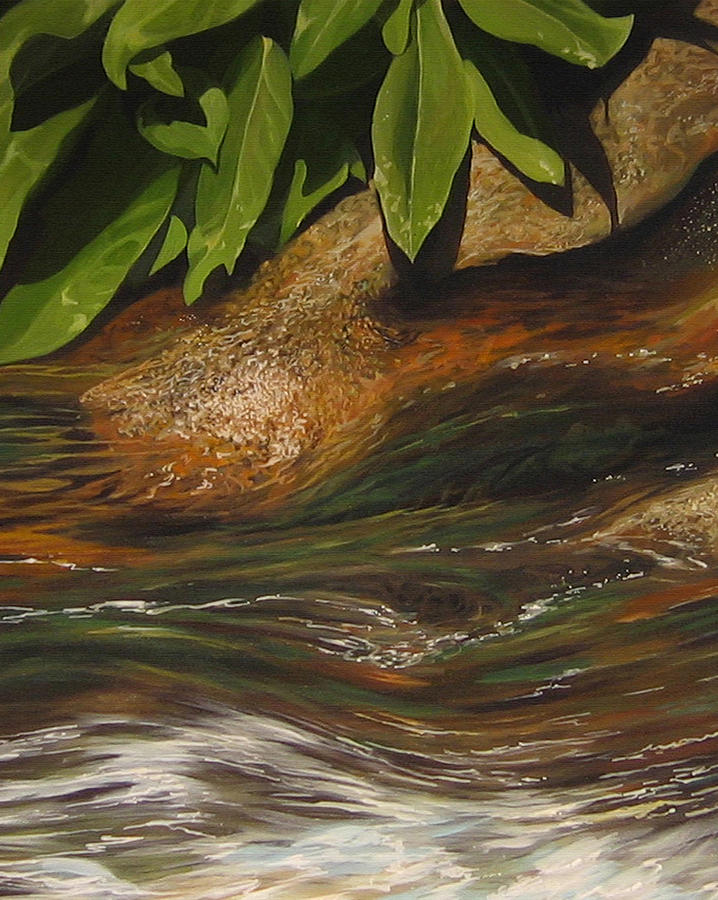Colorado Mountain Stream Painting - Flow by Hunter Jay