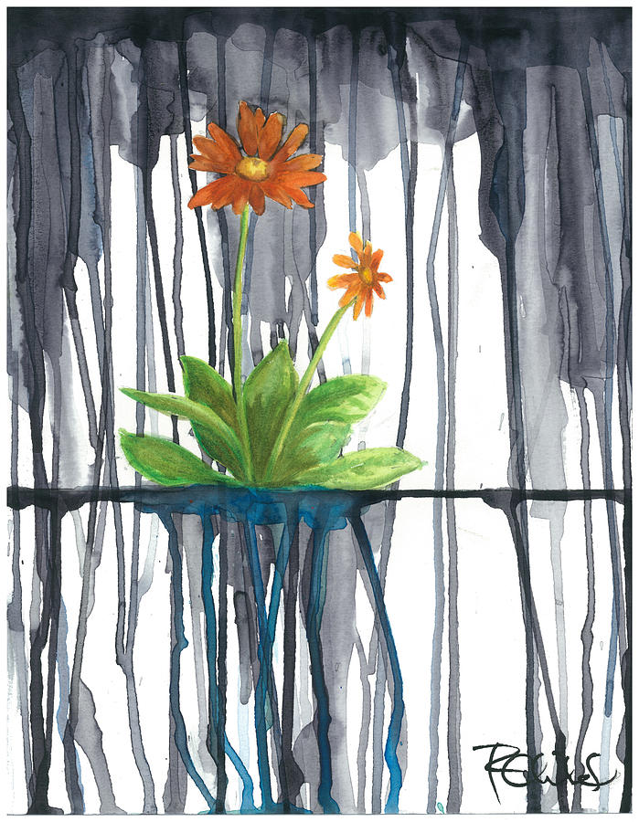 Daisy Painting - Flower #1 by Rebecca Childs