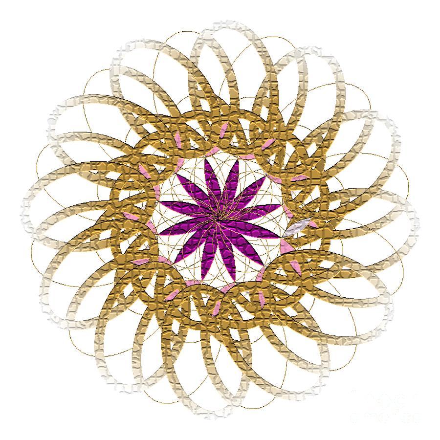FLOWER 1017 - Abstract Art Print - Fantasy - Digital Art - Fine Art Print - Flower Print by Ron Labryzz