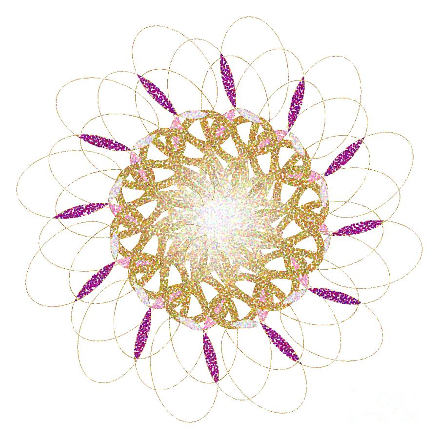 FLOWER 1217 - Abstract Art Print - Fantasy - Digital Art - Fine Art Print - Flower Print by Ron Labryzz