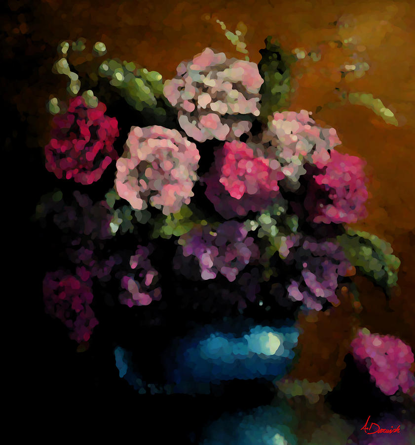 Flora Painting - Flower Arrangement by Ahmed Darwish