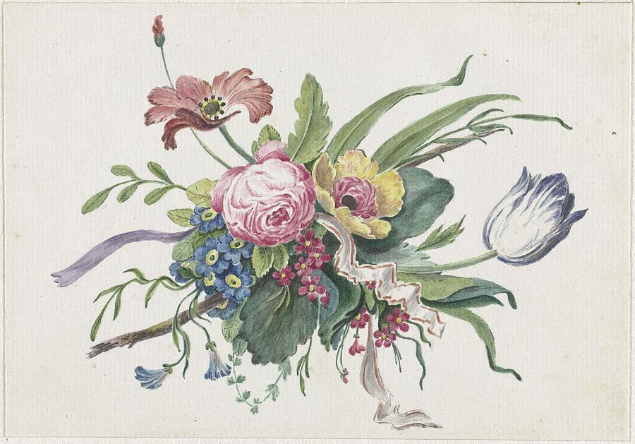 Flower Arrangement, Catharina Wilhelmina Schweickhardt, 1809 Painting